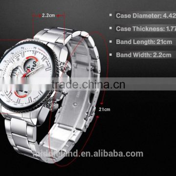 2015 new products on china market stainless steel back watch man mechanical watch , bracelet wristwatches for sale