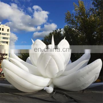 Promotional giant inflatable lotus flower/inflatable flower with LED light for decoration