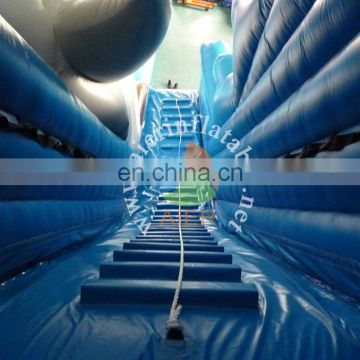 Giant Inflatable shark water slide with pool for sale,Inflatable jumping water slide