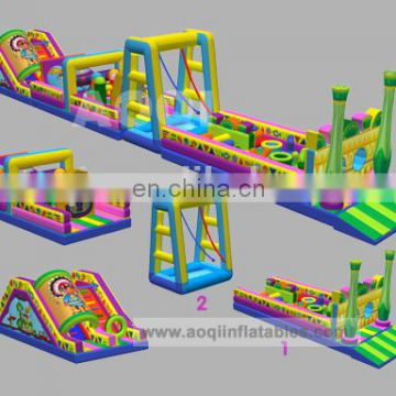 Fabulous latest designed inflatable slide and bouncer child garden play house