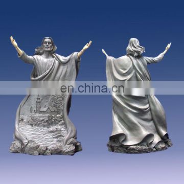 hot selling resin unpainted jesus figurine for home decoration