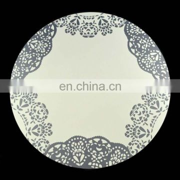 waterproof custom plastic round placemats