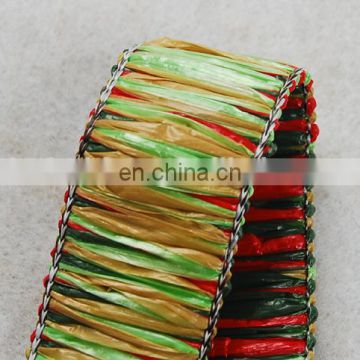 Hot fashion colorful fake raffia tassel fringe trim