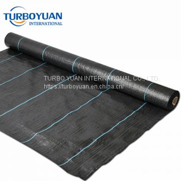 black plastic weed control fabric mat / PP weed mesh cover