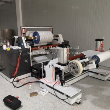 High speed strip splitter with center surface coiling cutting machine