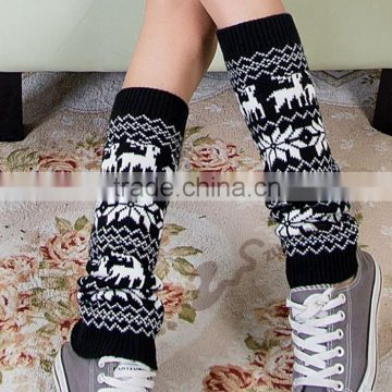Christmas Deer Knitted Leg Warmers Leg Warmers in Camel Boot Topper Christmas Gift Soft Knitted Socks Woman Fashion Winter