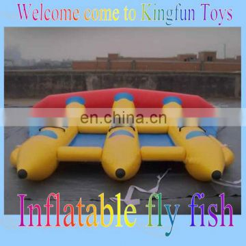 4m Inflatable water fly fishing boat water toy