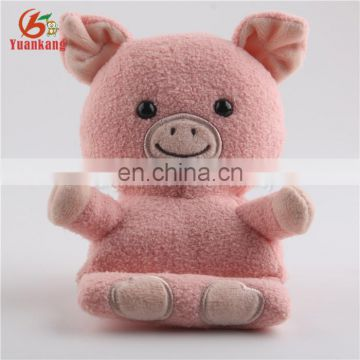 2017 New Cute Animal Pig Rabbit Plush Cell Phone Car Holder