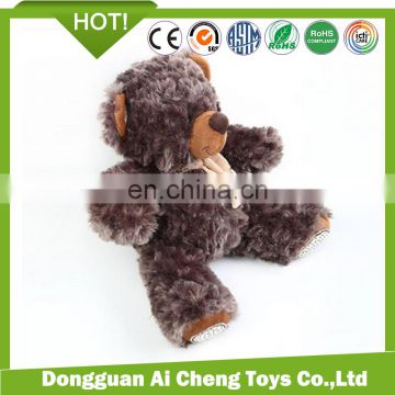 creative personality high quality plush stuffed teddy bear toys doll for kids