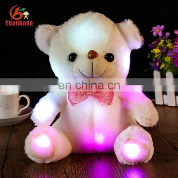 Personlized musical singing and Flashlight Glow-in-the-dark led light up teddy bear plush toy