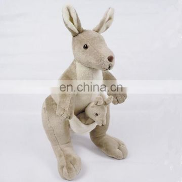 plush stuff toy kangaroo with baby factory wholesales