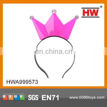 High Quality Flashing Kids Party Toys Imperial Crown Hair Hobby Pin