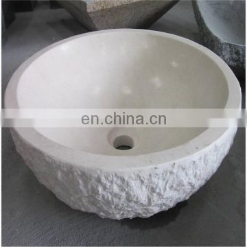 White limestone sink for outdoor
