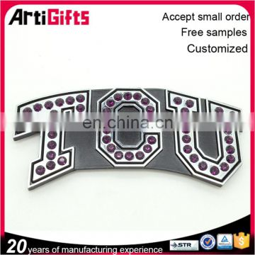 High performance metal plastic name badge