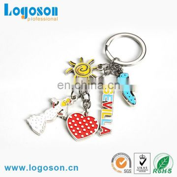 Loverly cartoon tree shaped keychain for souvenir gift