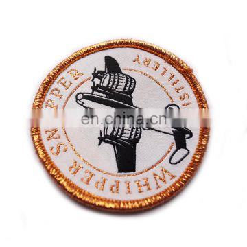 Wholesale garment cheap custom beautiful embroidery badge for clothing