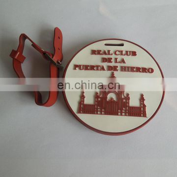 round letter & building engraved logo luggage tag