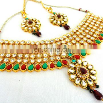 INDIAN ETHNIC BRIDAL KUNDAN JEWELLERY-POLKI STONE WEDDING WEAR JEWELRY-INDIAN ETHNIC JEWELRY-KUNDAN WEDDING WEAR JEWELLERY 2015