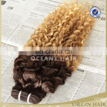wholesale 100% cheap alli express virgin brazilian ombre braiding hair extension clip in curly hair extension