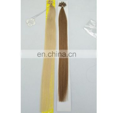High quality Silky straight remy virgin brazilian nail tip hair extensions