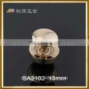 Custom Plated Screrw Rivets And Studs, Decorative Zinc Alloy Mushroom Head Shape Rivets For Bags