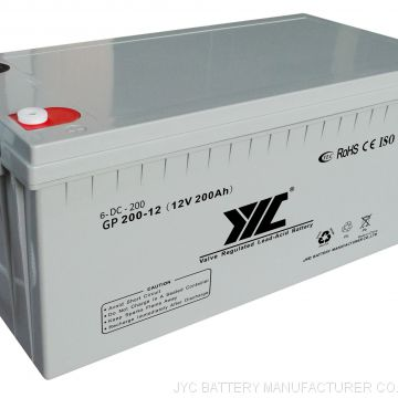 JYC  12v 200ah batteries  solar battery 12v 200ah for UPS system Uninterrupted Power Supply