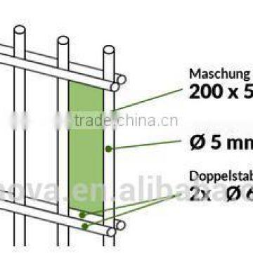 Gartenzaun Doppelstab Zaun 103 Cm Gittermatten Zaun Set