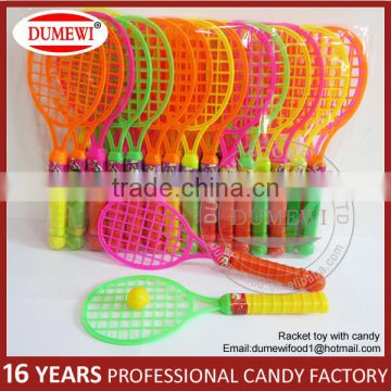 Popular racket plastic candy toy