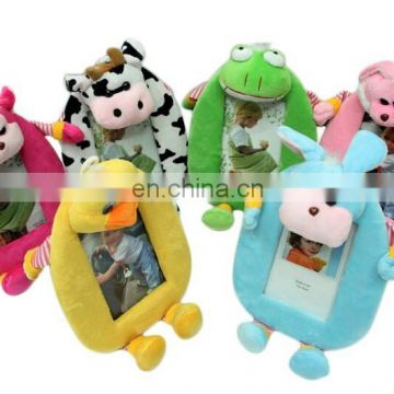 Customize all kinds of animal shaped plush photo frame