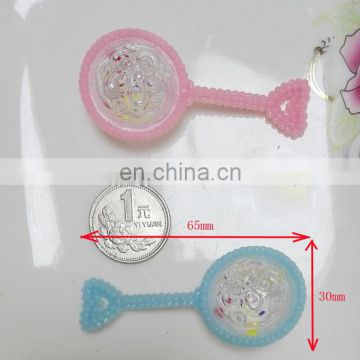 baby shower favor plastic baby rattle toy