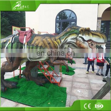 KAWAH Animatronic Kids Ride Walking Support Robotic Dinosaur For Sale