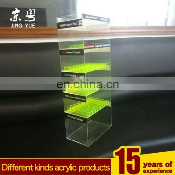 custom plexiglass vaporizer e-cig display PMMA cigarette display shelves acrylic electronic cigarette display case