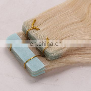 Virgin indian hair raw unprocessed invisible tape hair extensions