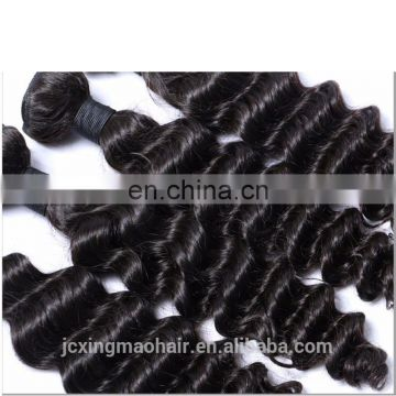 Unprocessed Cheap Virgin Malaysian high quality 7a deep wave hair weave bundles