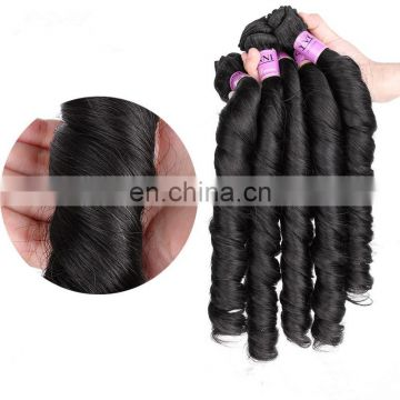 Grade 8a spring curl nature black color hair weave remy virgin brazilian human hair extensions