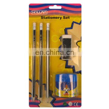 Stationery Set Wooden Pencil with Sharpener