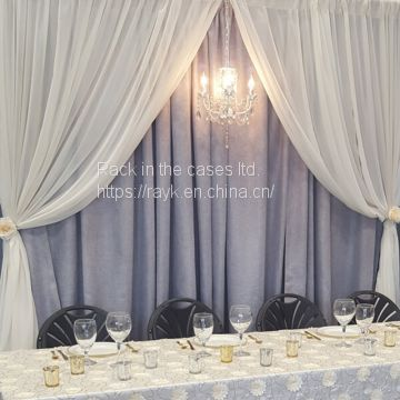 2019 RK hot sale black  pipe and drape for wedding decoration for sale