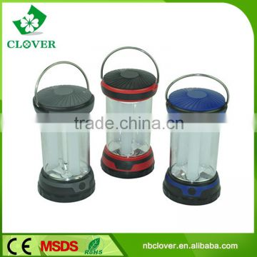 6 LED night light 3*AAA battery ABS material led camping lantern