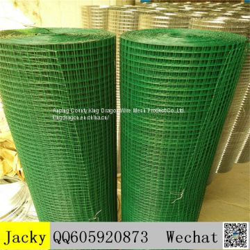 Green PVC coated welded mesh,1/2 inch,good quality.