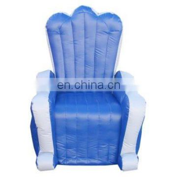 2012 inflatable king throne in blue