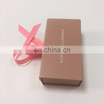 High quality Small custom color Gift Box with Ribbon hand design