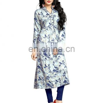 2017 Womens Party Wear High Quality Rayon Soft Cotton Printed Kurtis