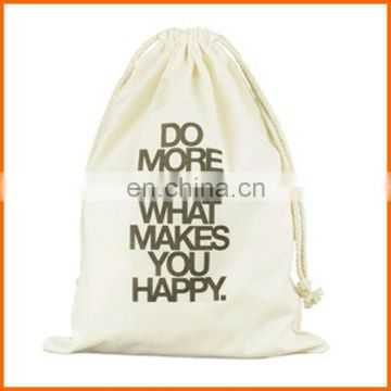 Custom print wholesale cotton promotional drawstring backpack bag