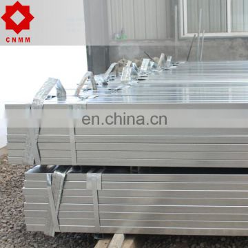 profile hot dipped rectangular steel galvanized square tube pipe price