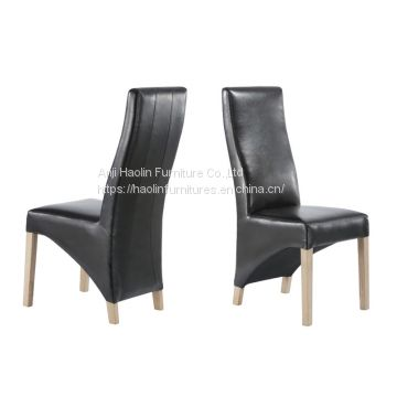 Leather Dining Chair in Solid Wood UKFR standard