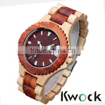 Main business Japan movement bamboo wooden quartz watch,unique design luxury watch for man and women