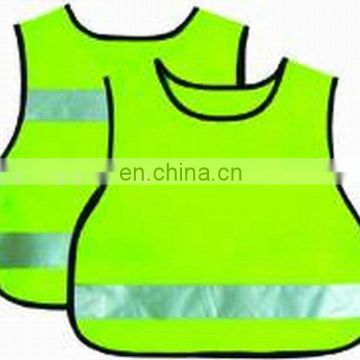 Protective high Visibility yellow Kids Reflective vest Conforms to EN1150 Class2