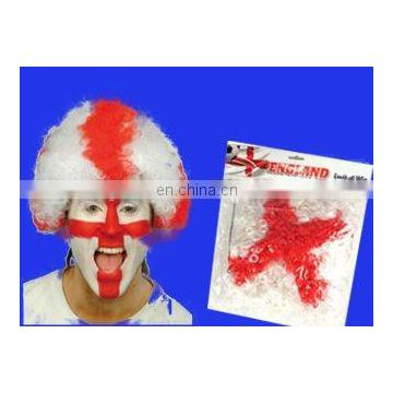 2016 England hot selling football fans wig for England soccer fans