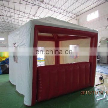 Air tight bule red box office,inflatable booth for sale