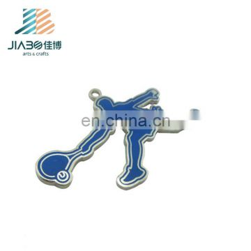 custom made logo stamped sport metal charms